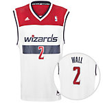adidas Washington Wizards Wall Replica Basketball Trikot Herren weiß / rot / blau