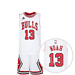 adidas Chicago Bulls Noah Basketball Trikot Kinder weiß / rot
