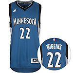 adidas Minnesota Timberwolves Wiggins Swingman Basketball Trikot Herren blau / schwarz