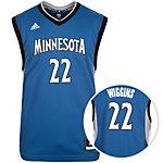 adidas Minnesota Timberwolves Wiggins Basketball Trikot Herren petrol / grau / weiß