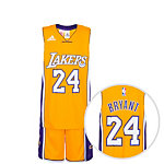 adidas Los Angeles Lakers Basketball Trikot Kinder gelb / lila