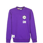 adidas Los Angeles Lakers Washed Crew Sweatshirt Jungen lila