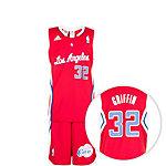 adidas Los Angeles Clippers Basketball Trikot Kinder rot