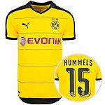 PUMA Borussia Dortmund Hummels Heim 15/16 Fußballtrikot Herren gelb / schwarz