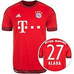 adidas FC Bayern München Alaba 15/16 Heim Fußballtrikot Herren rot / weiß