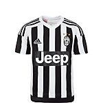 adidas Juventus Turin 15/16 Heim Fußballtrikot Kinder weiß / schwarz