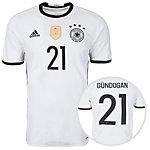 adidas DFB Trikot Gündogan EM 2016 Heim Fußballtrikot Herren weiß / schwarz