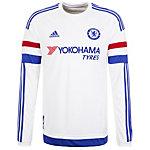 adidas FC Chelsea 15/16 Auswärts Fußballtrikot Herren weiß / blau / rot