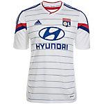 adidas Olympique Lyon 14/15 Heim Fußballtrikot Herren weiß / blau