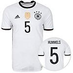 adidas DFB Trikot Hummels EM 2016 Heim Fußballtrikot Herren weiß / schwarz