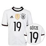 adidas DFB Trikot Götze EM 2016 Heim Fußballtrikot Kinder weiß / schwarz