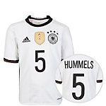 adidas DFB Trikot Hummels EM 2016 Heim Fußballtrikot Kinder weiß / schwarz