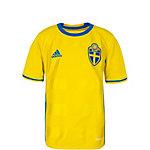 adidas Schweden EM 2016 Heim Fußballtrikot Kinder gelb / blau