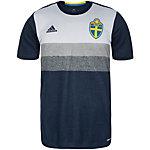 adidas Schweden EM 2016 Auswärts Fußballtrikot Herren dunkelblau / grau