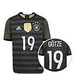 adidas DFB Götze EM 2016 Auswärts Fußballtrikot Kinder grau / weiß / grün