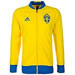 adidas Schweden EM 2016 Trainingsjacke Herren gelb / blau