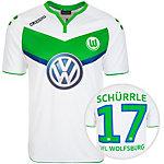 KAPPA VfL Wolfsburg Home Schürrle 2015/2016 Fußballtrikot Herren weiß / grün