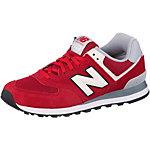 NEW BALANCE ML 574 Sneaker Herren rot/grau