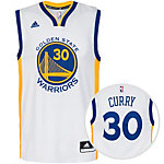 adidas Golden State Curry Replica Basketball Trikot Herren weiß / blau / gelb