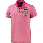 Twinlife Poloshirt Herren pink melange