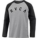 RVCA Shortstop Langarmshirt Herren grau/schwarz