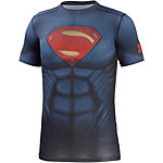 Under Armour HeatGear alter Ego Superman Kompressionsshirt Herren blau