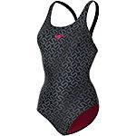 SPEEDO Monogram Allover Muscleback Schwimmanzug Damen schwarz
