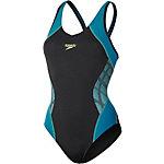 SPEEDO Splice Muscleback Schwimmanzug Damen schwarz/petrol