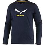 SALEWA Solidlogo 2 Printlangarmshirt Herren navy