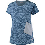 Colour Wear Holk T-Shirt Damen blau leo