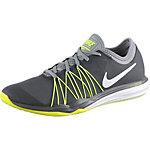 Nike Dual Fusion TR HIT Fitnessschuhe Damen dunkelgrau/neongelb