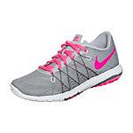 Nike Flex Fury 2 Laufschuhe Kinder grau / pink / weiß