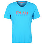 PUMA Run Laufshirt Herren hellblau / orange