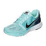 Nike Lunarglide 7 Knit Jacquar Laufschuhe Kinder hellblau / schwarz