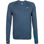 Nike Dri-Fit Wool Laufshirt Herren blau / silber