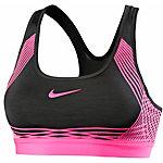 Nike Pro Hyper Classic Sport-BH Damen schwarz/neonpink