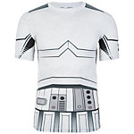 Under Armour HeatGear Alter Ego Storm Trooper Kompressionsshirt Herren weiß / grau / schwarz