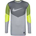 Nike Kompressionsshirt Herren gelb / grau