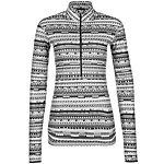 Nike Pro Warm 8 Bit Funktionsshirt Damen grau / weiß / schwarz