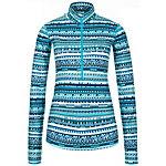 Nike Pro Warm 8 Bit Funktionsshirt Damen blau / schwarz