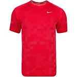 Nike Dri-FIT Knit Contrast Laufshirt Herren rot / silber