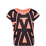 adidas Wardrobe Typo Allover Printed Funktionsshirt Mädchen rosa / schwarz