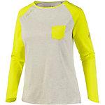 Mammut Logo Klettershirt Damen grau/lemon