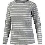 Mammut Wall Langarmshirt Damen grau/weiß