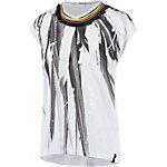 REPLAY Printshirt Damen weiß/schwarz/bunt