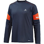 Salomon Agile Funktionsshirt Herren blau/orange