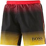 Boss Footballfish Badeshorts Herren schwarz