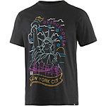 DC Neon NY Printshirt Herren schwarz