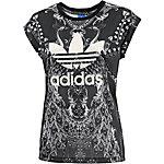adidas Printshirt Damen anthrazit/weiß