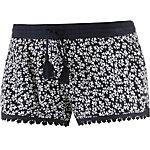 Superdry Shorts Damen schwarz/weiß